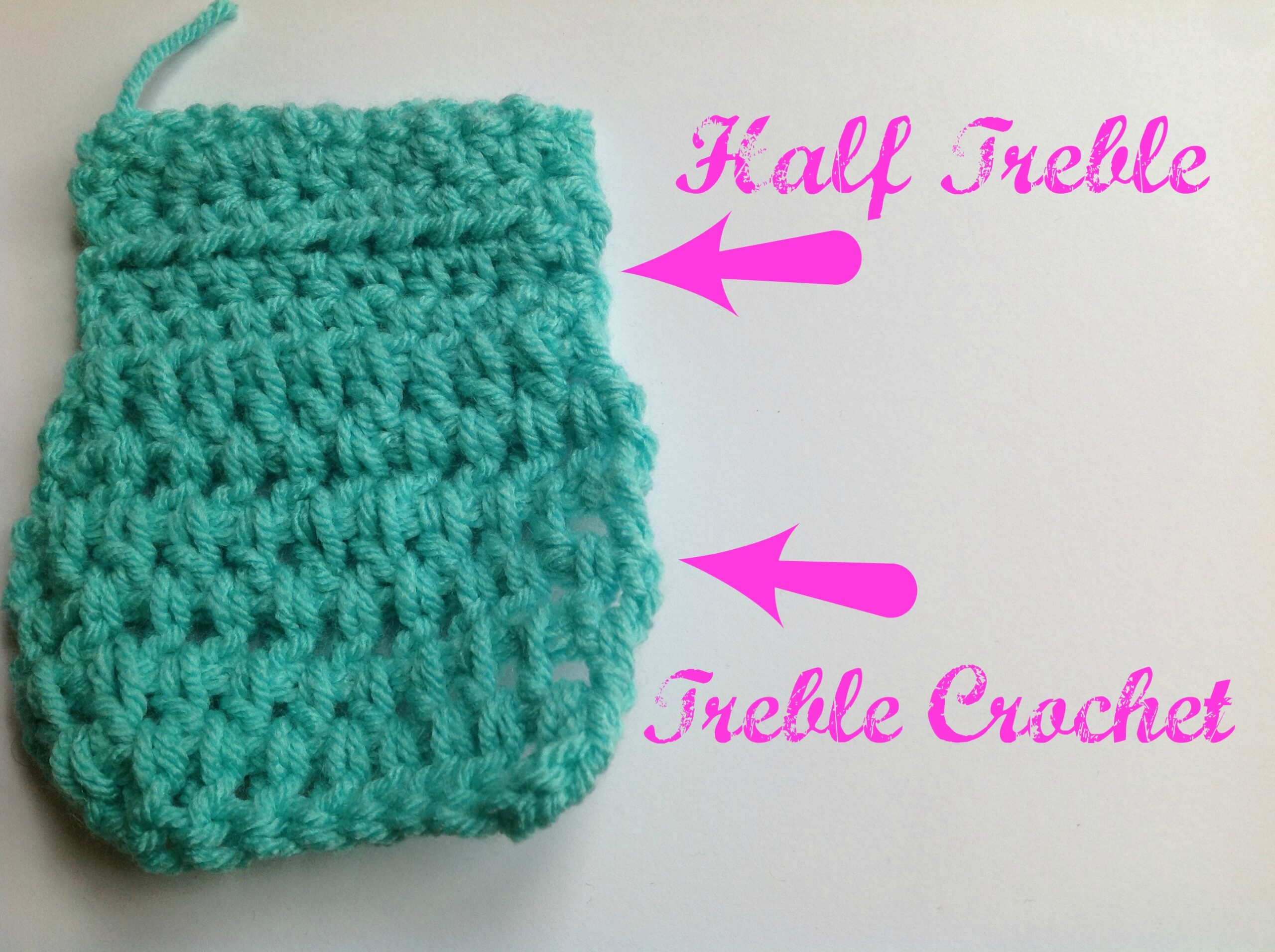 Crochet Stitches Uk Half Treble : Treble Crochet Stitch Treble And Treble Crochet