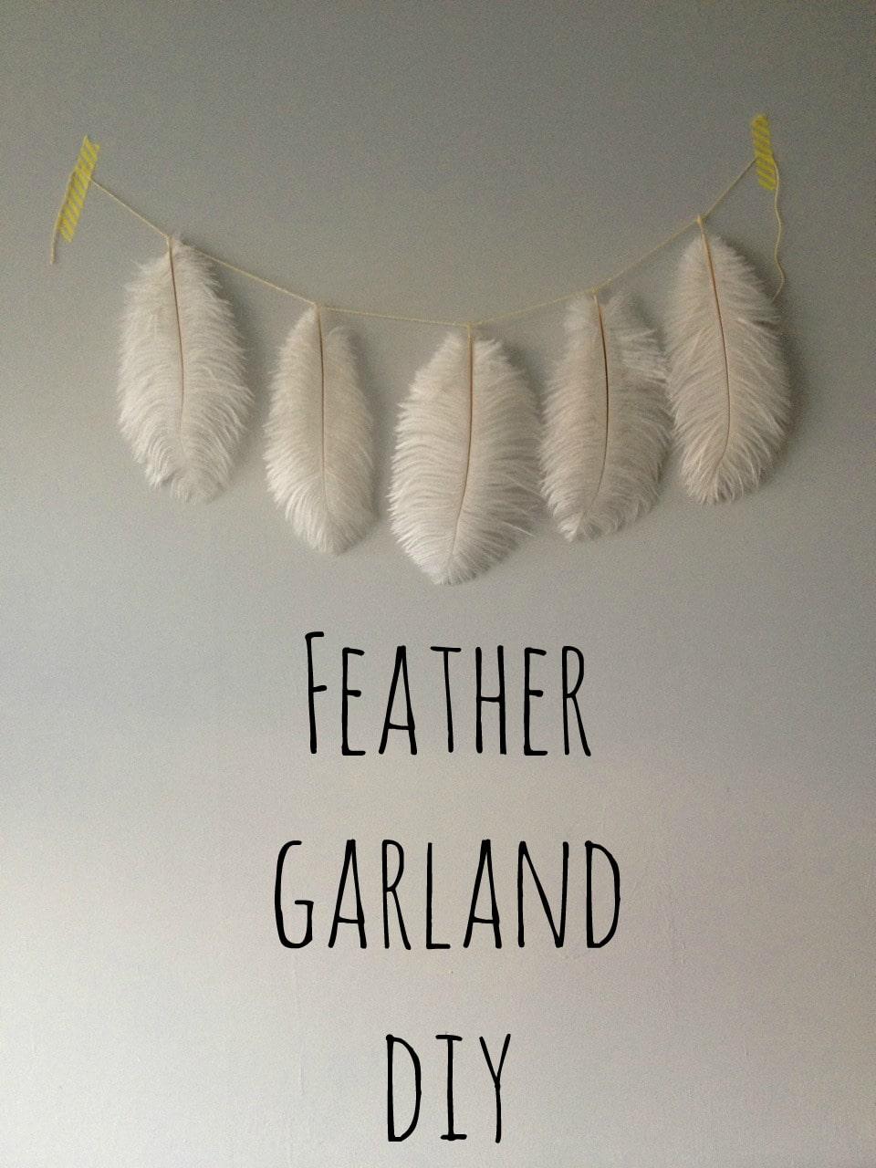 Feather garland DIY
