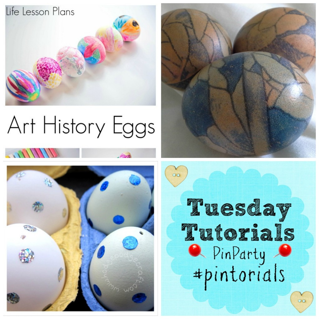 Tuesday Tutorials Pin It Party Linky Easter Egg Craft Ideas
