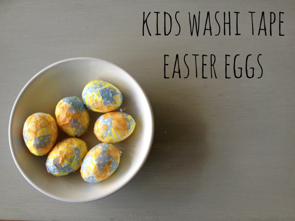 kids washi tape easter eggs