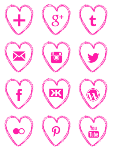 Free-pink-heart-social-media-icons- geek fairy