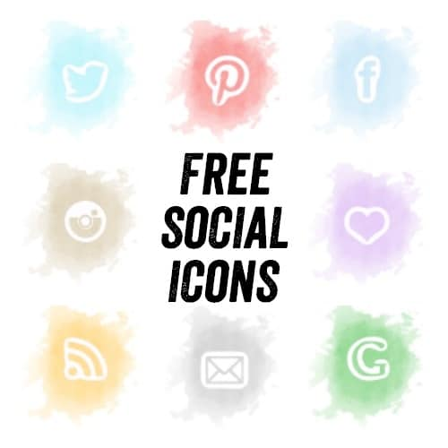 free-watercolour-social-icons