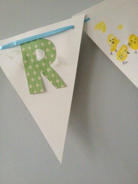 homemade easter bunting