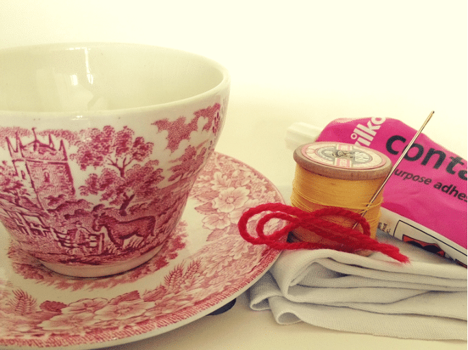 teacup pincushion DIY