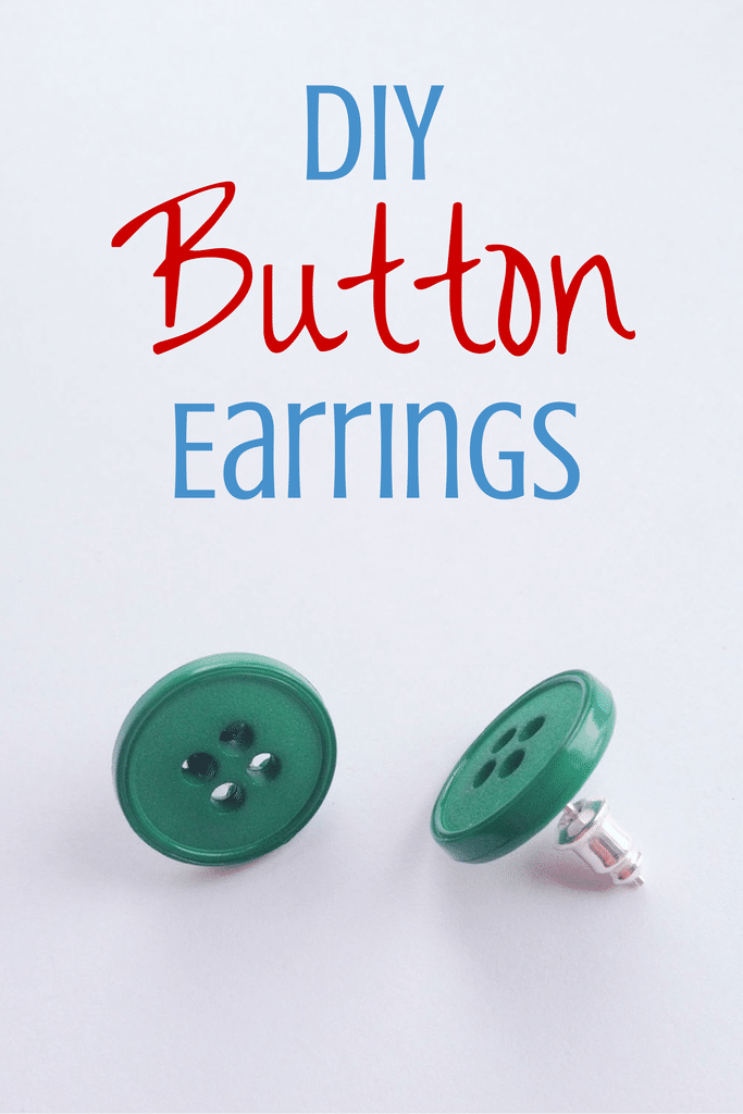 how to make button earrings