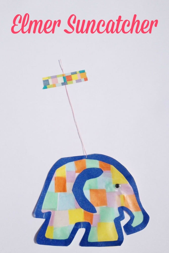 Suncatcher Elmer The Elephant Craft