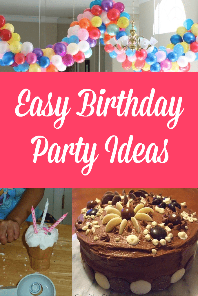 Easy birthday party ideas tuesday tutorials crafts on sea for Simple birthday decorations ideas at home