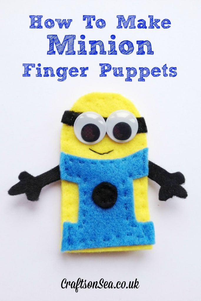 How to make minion finger puppets