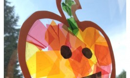 Stained Glass Pumpkin Suncatcher