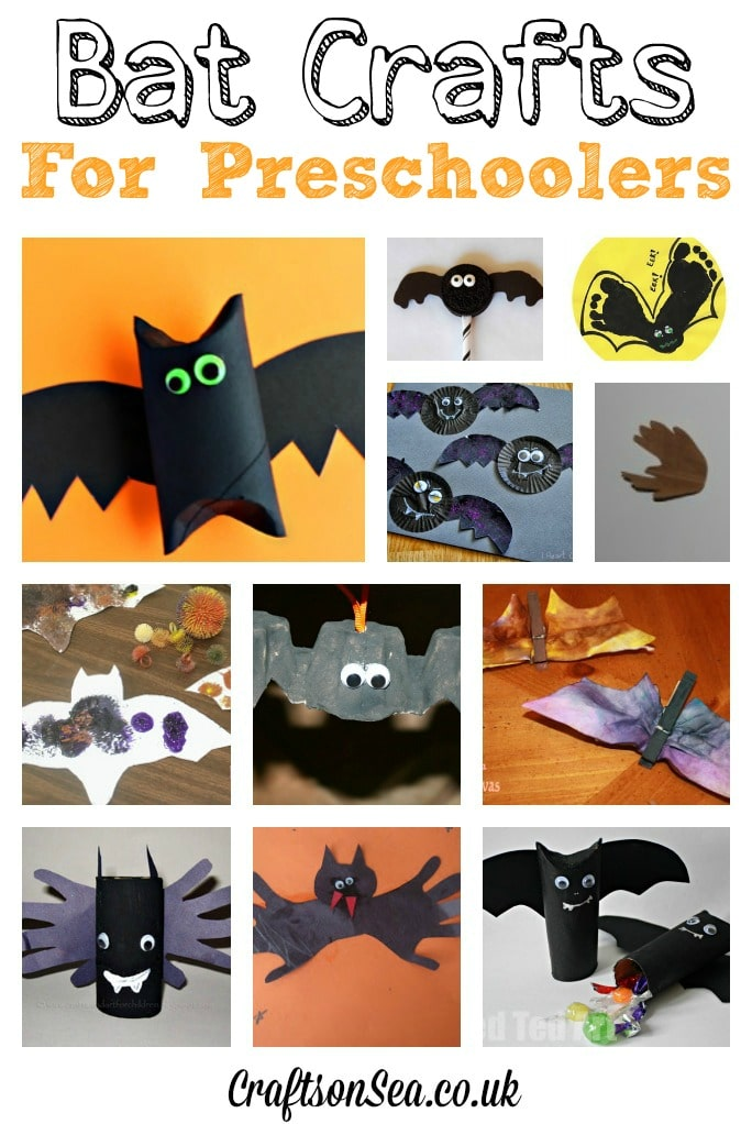 bat crafts for preschoolers