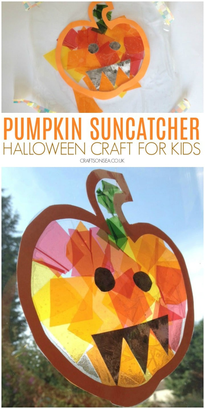 pumpkin suncatcher craft for kids