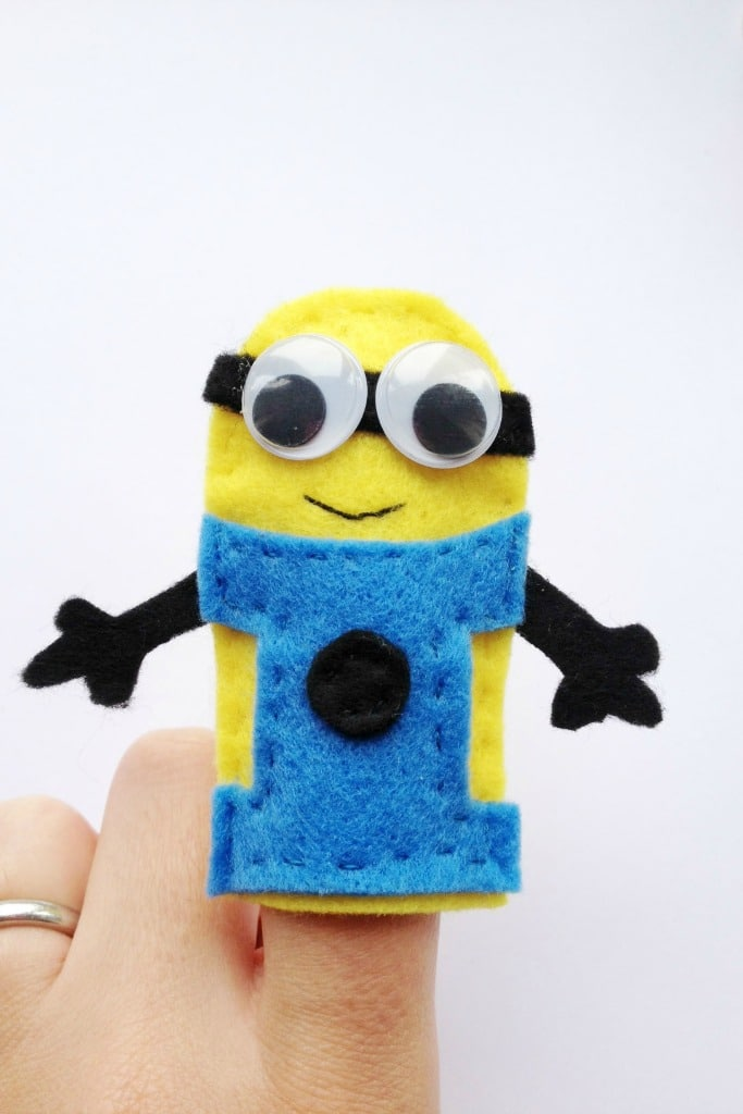 minion finger puppet tutorial