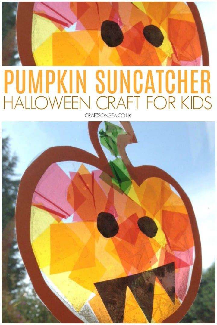 pumpkin suncatcher halloween an easy craft for kids