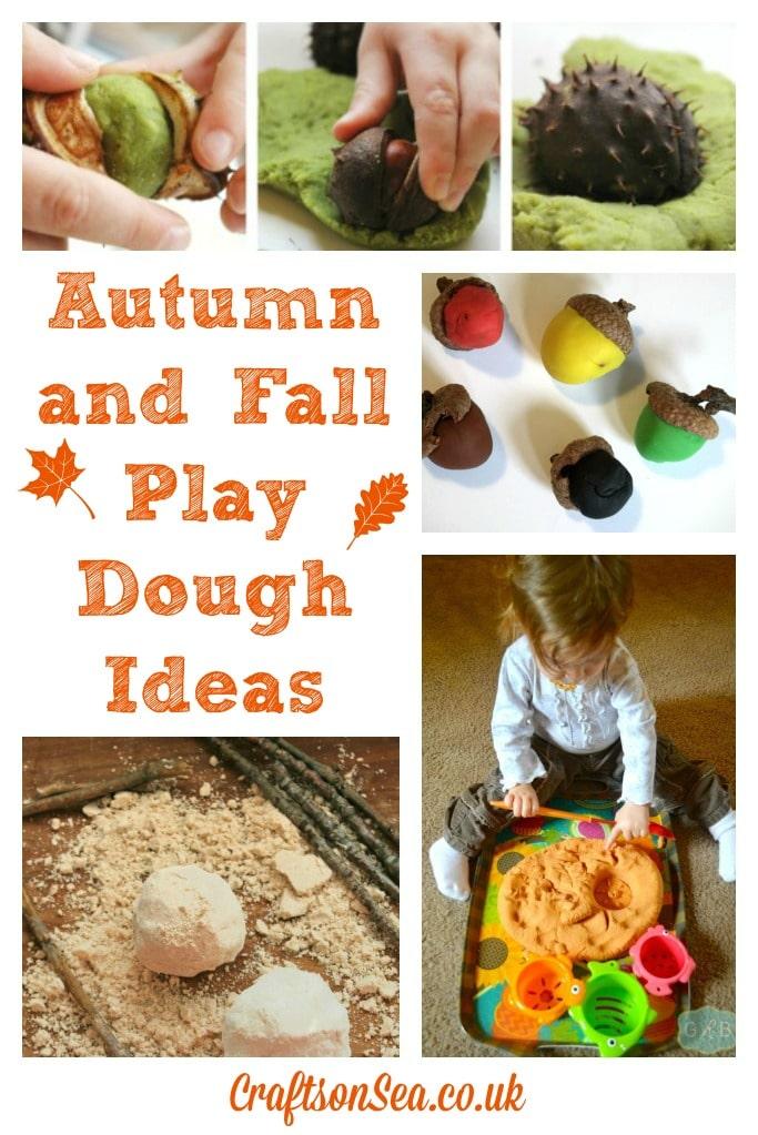 Autumn and Fall Play Dough Ideas