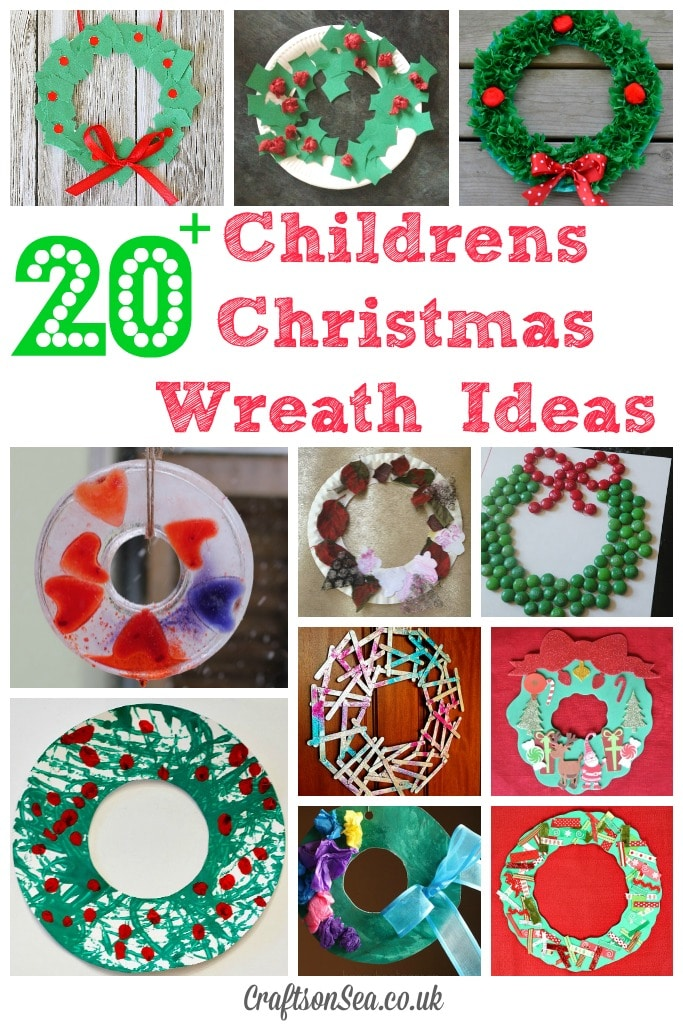 20 christmas wreaths kids can make crafts on sea for Holiday crafts for preschoolers to make