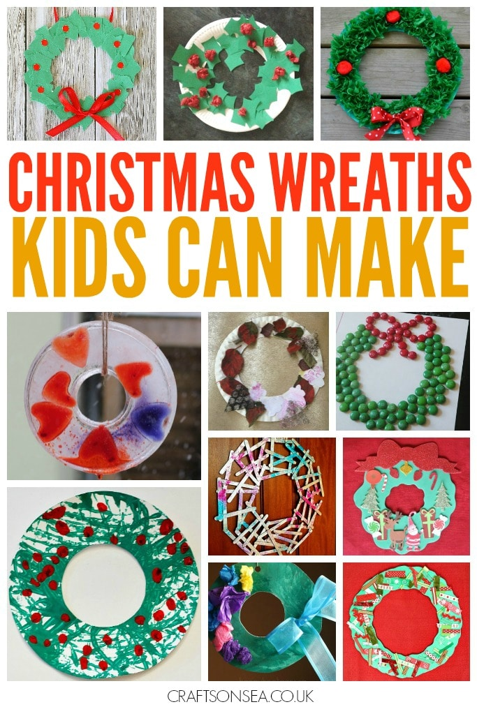 Christmas Wreaths Kids Can Make Easy
