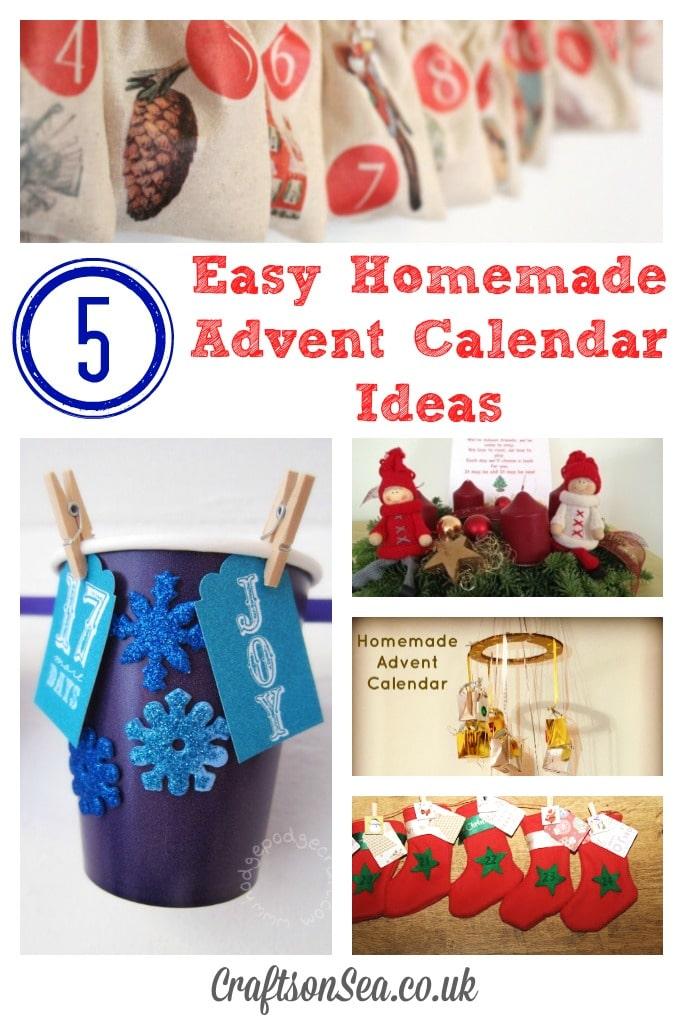 5 easy homemade advent calendar ideas crafts on sea for Homemade christmas advent calendar ideas