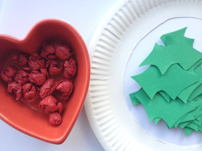 paper plate christmas wreath for preschoolers