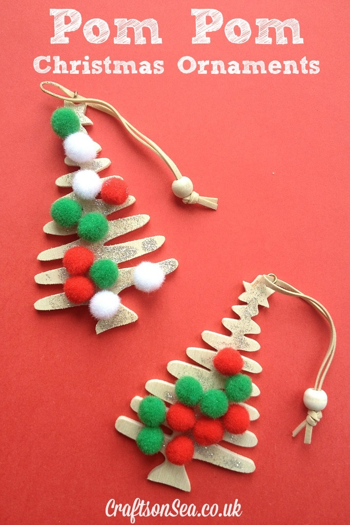 Wooden Christmas tree decorations (I got these in The Range for 50p ...