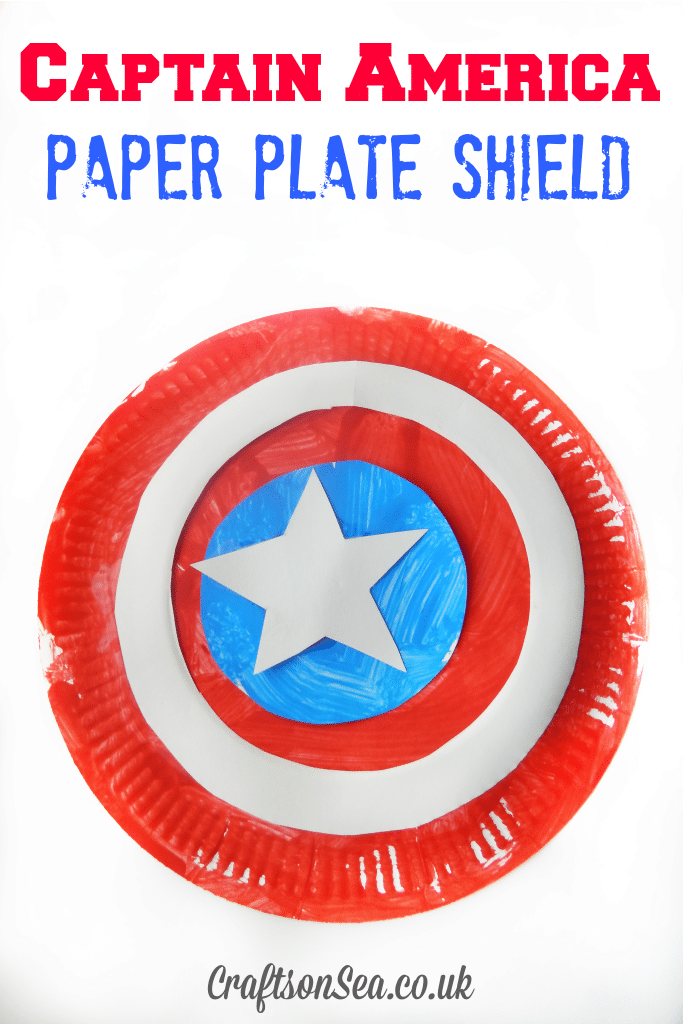 Captain America Paper Plate Shield