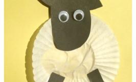 cupcake liner sheep craft