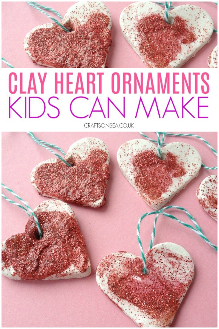 valentines activity for kids clay heart ornaments