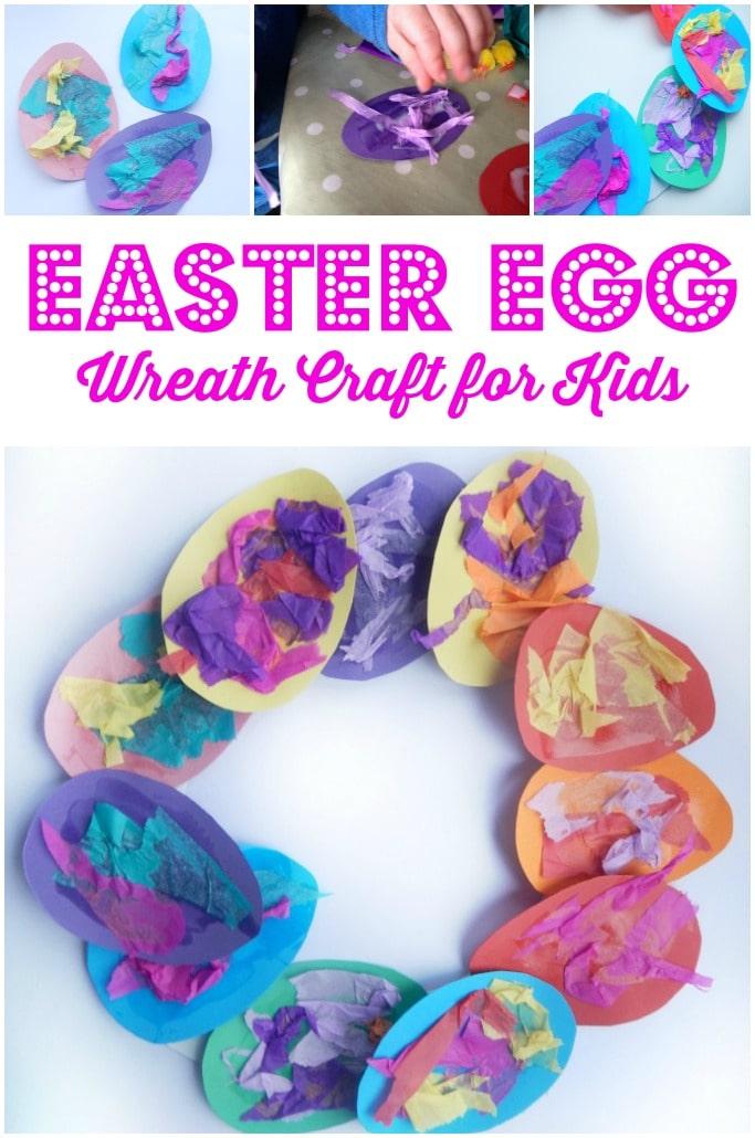 Easter Egg wreath craft for kids