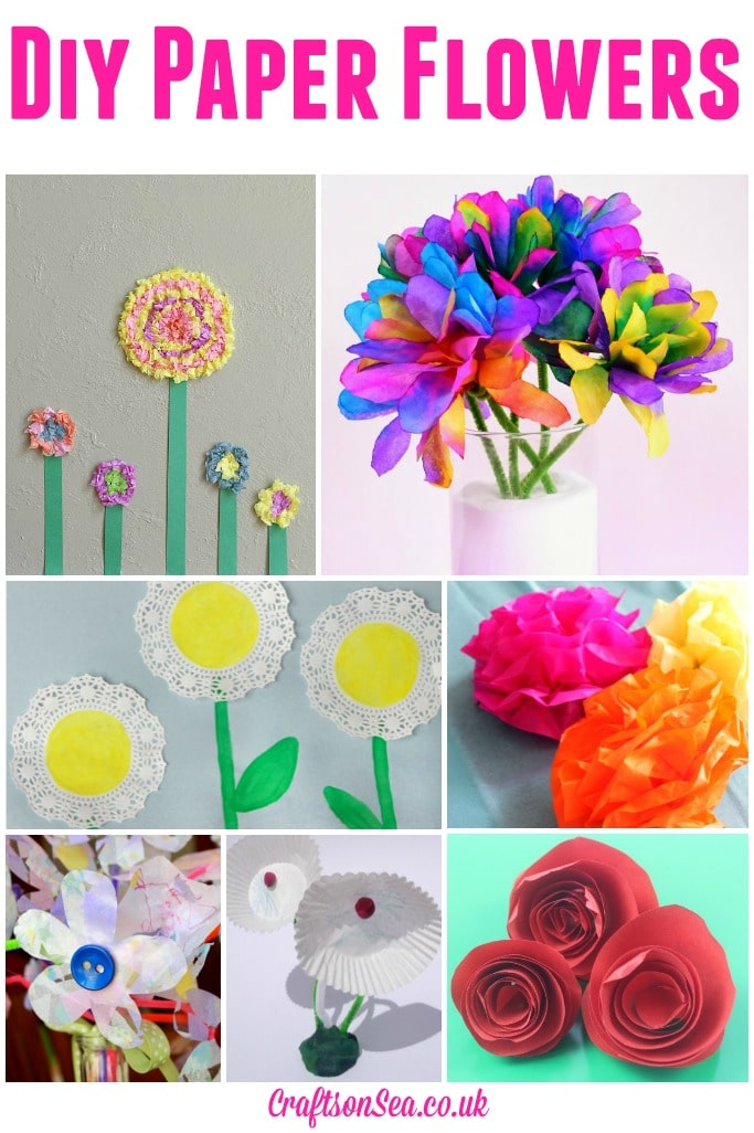 Diy Paper Flowers Tuesday Tutorials on Spring Theme Bulletin Boards