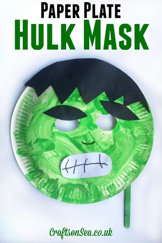 Paper Plate Hulk Mask