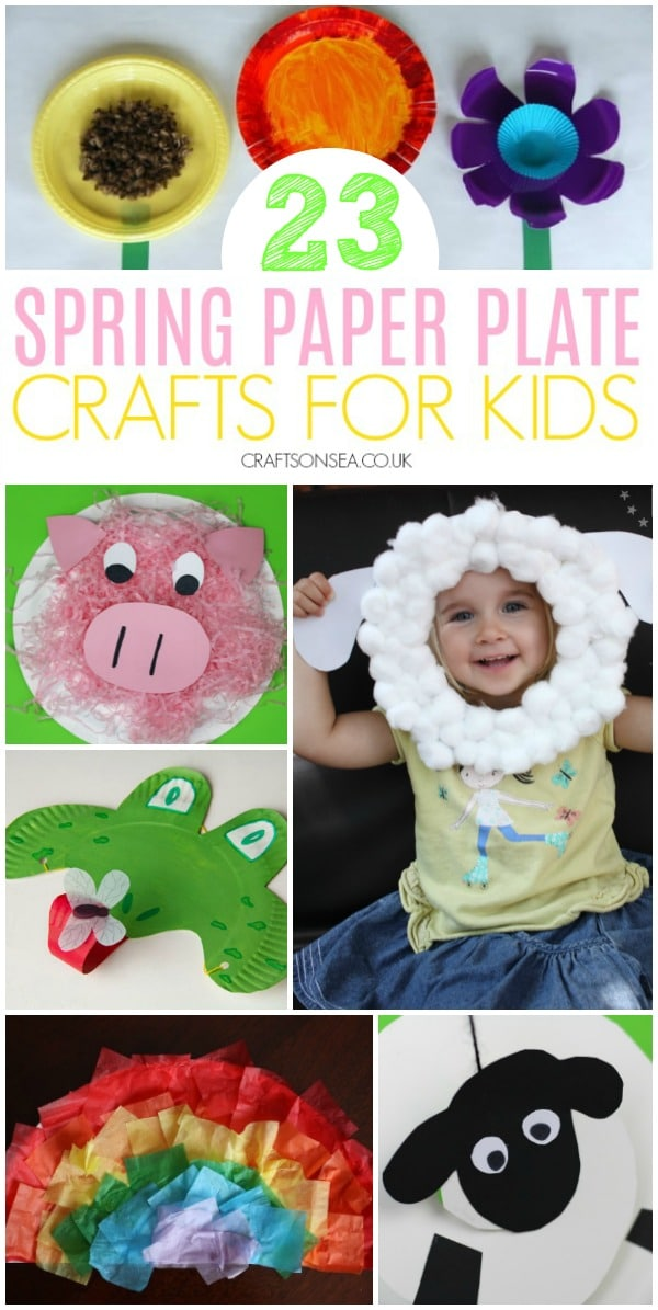 spring paper plate crafts for kids preschool toddlers