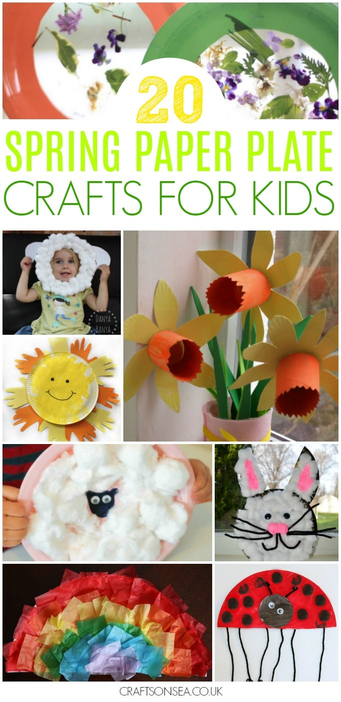 spring paper plate crafts for kids preschool  sc 1 st  Crafts on Sea & 20 Cute and Achievable Spring Paper Plate Crafts - Crafts on Sea
