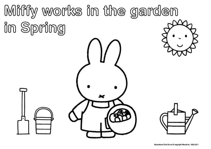 miffy and friends coloring pages - photo#9
