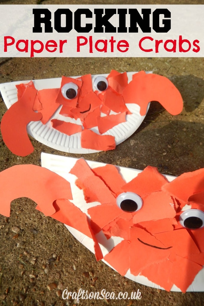 Rocking Paper Plate Crabs