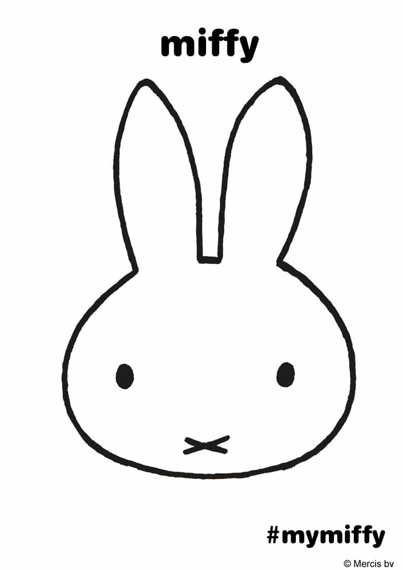 Free Miffy Colouring Pages and