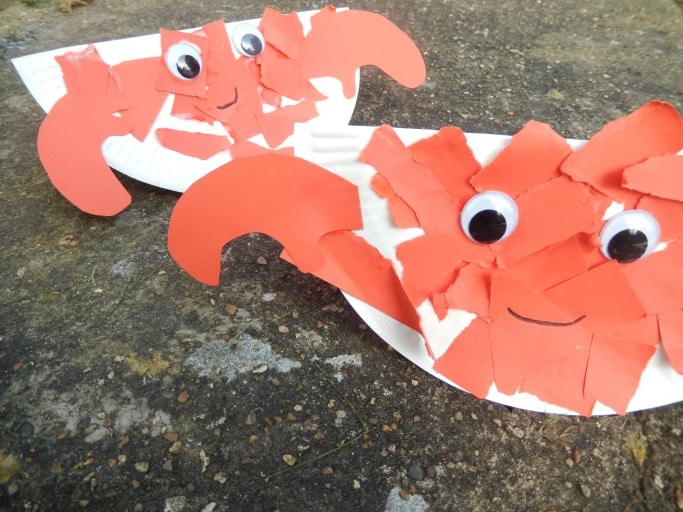 sea crafts for kids crab craft