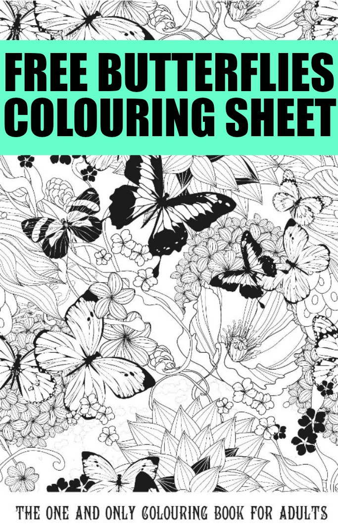 Gorgeous Free Butterfly Colouring Pages for Adults - Crafts on Sea