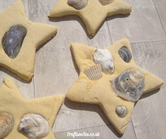 Kid Made Seashell Decorations