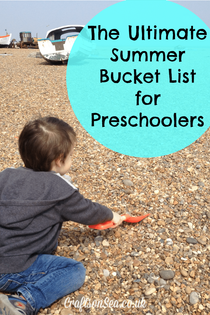 summer bucket list for preschoolers