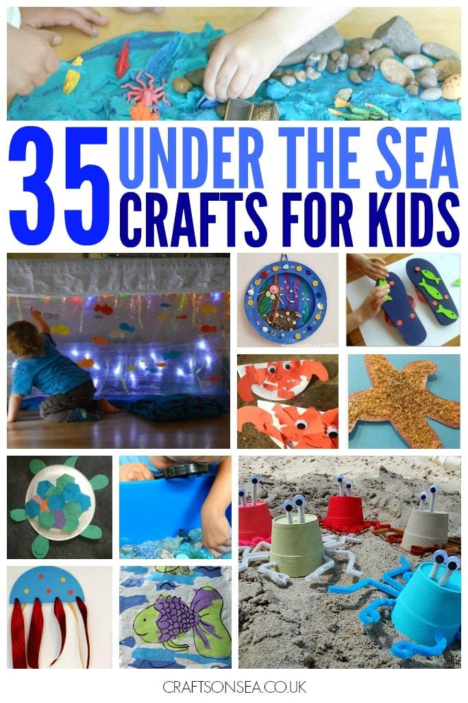 under the sea crafts for kids ocean activities