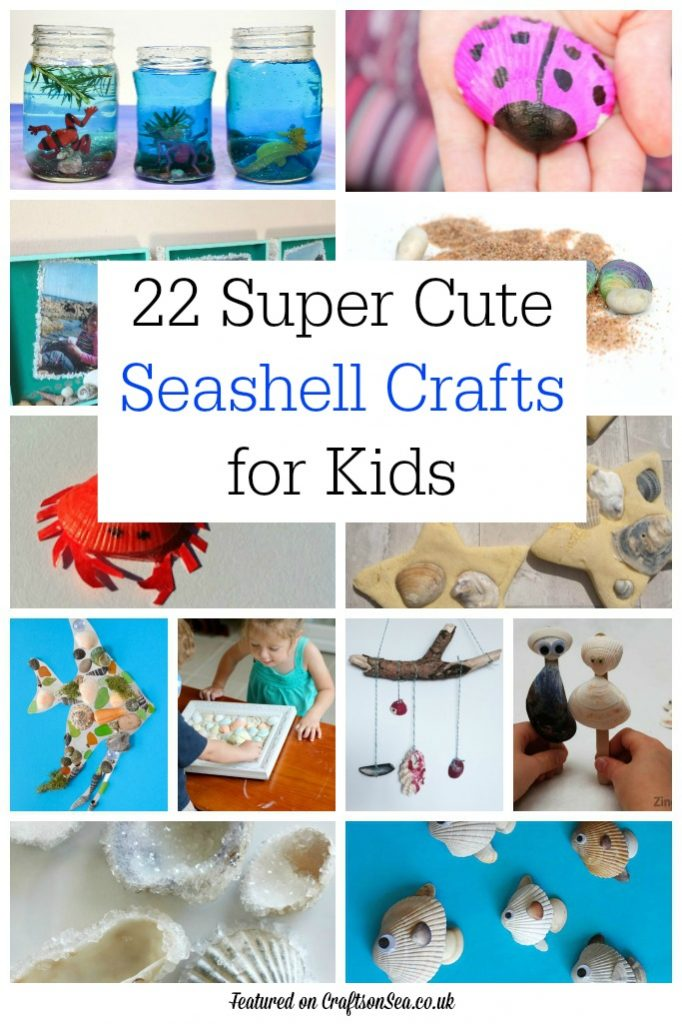 Cute Seashell Sea Crafts for Kids