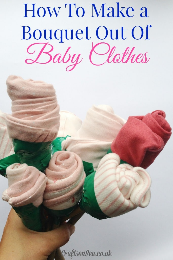 How to Make a Bouquet Out of Baby Clothes