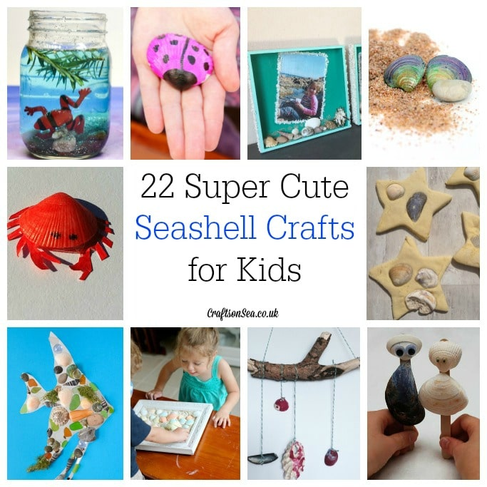 Seashell crafts for kids square