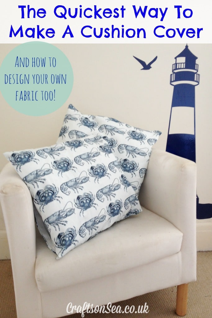 The quickest way to make a cushion cover