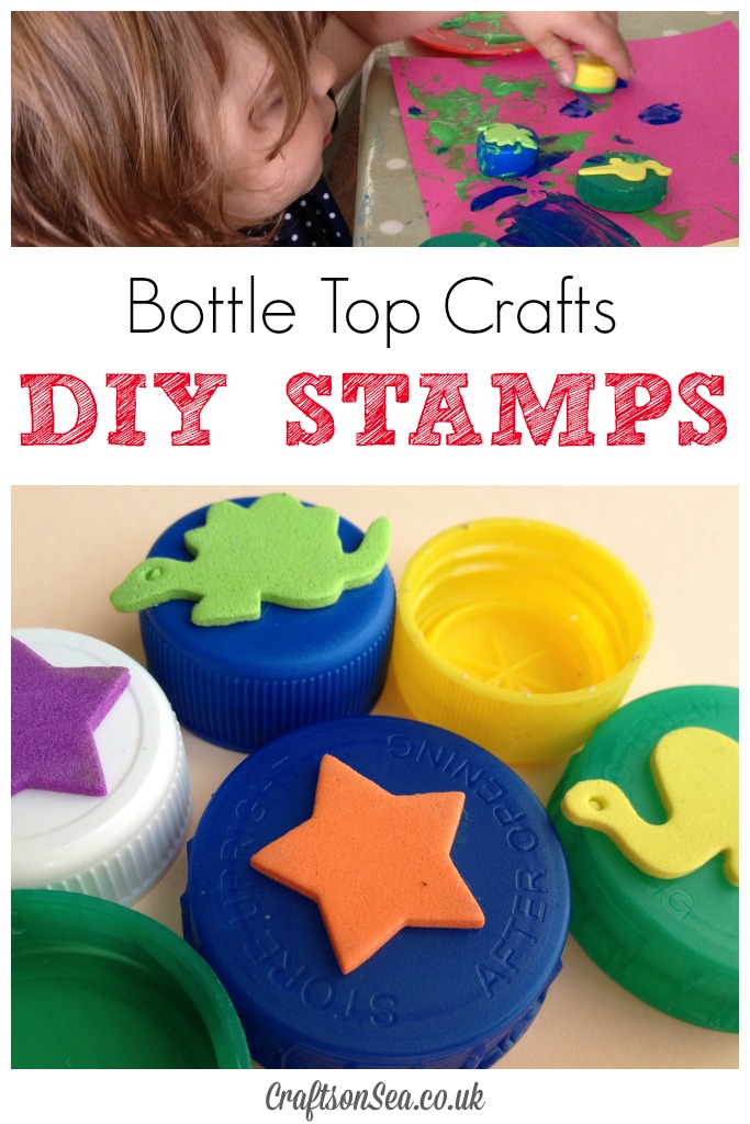 Bottle Top Crafts DIY Stamps a fun activity for toddlers