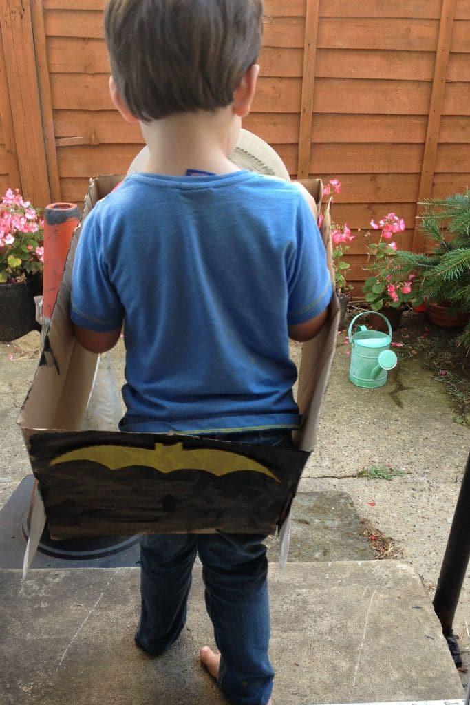 DIY Batmobile tutorial from a cardboard box