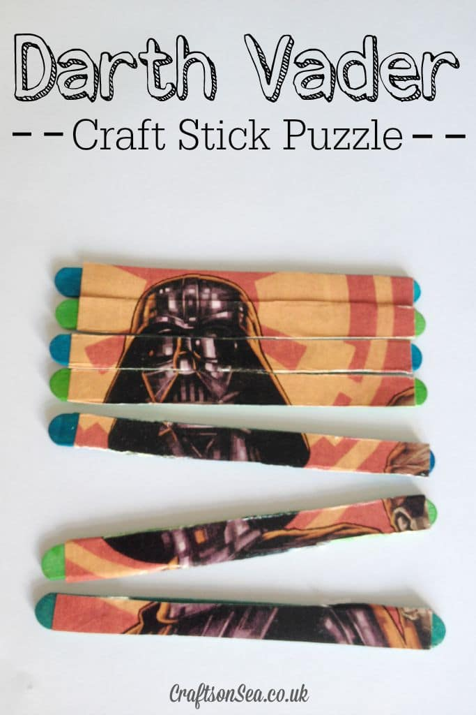 Darth Varder Craft Sticks Puzzle Star Wars Craft Idea