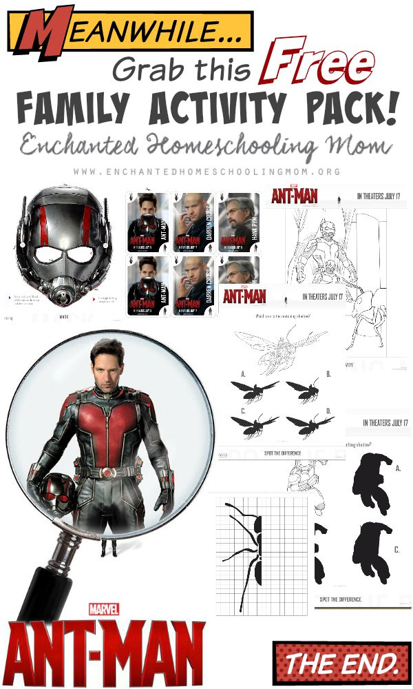 Free Antman Activity Pack