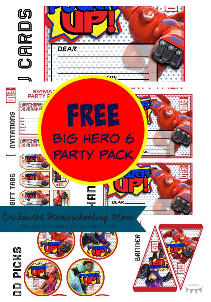 Free Big Hero 6 Party Pack Printables