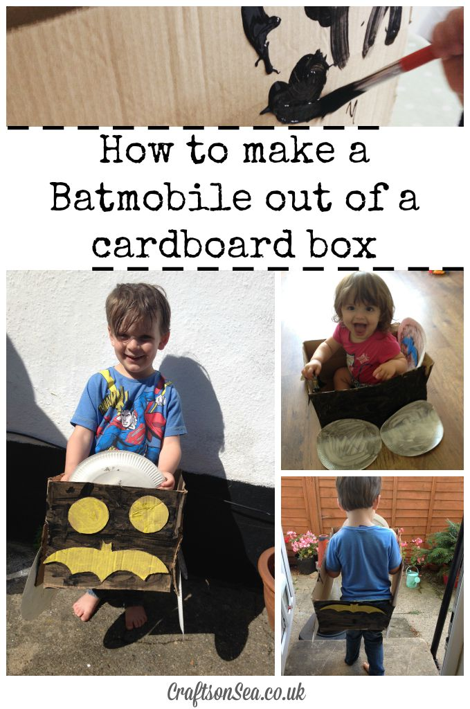 How to make a Batmobile out of a cardboard box