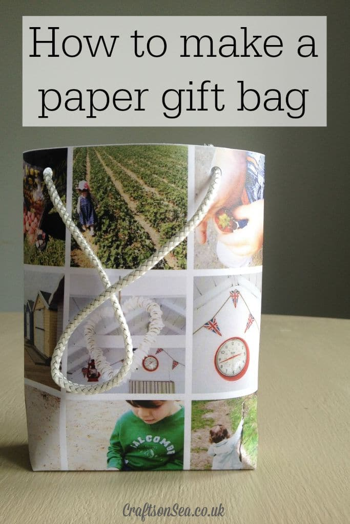 How to make a paper gift bag step by step tutorial